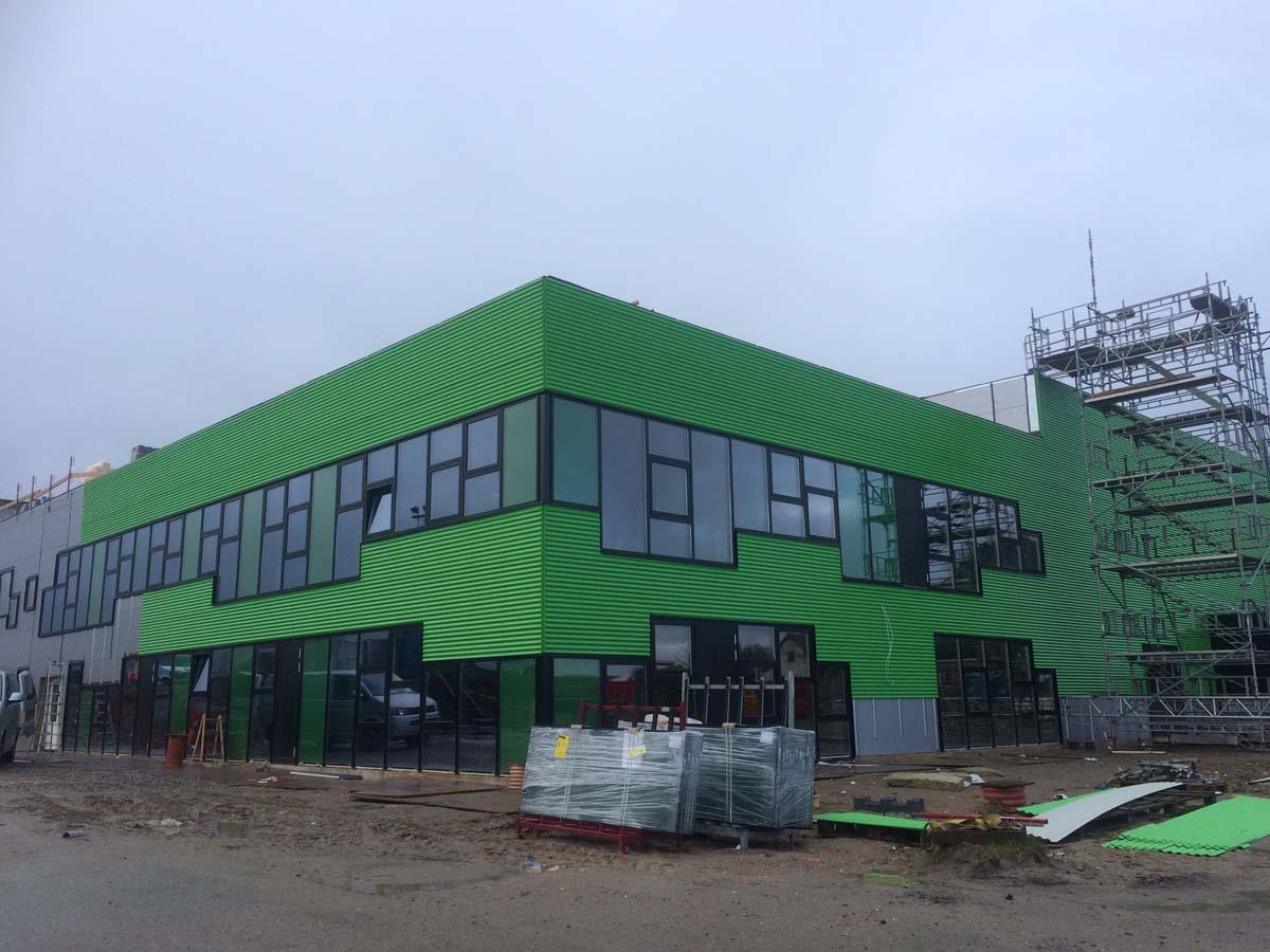 grøn facadeinddækning